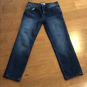 "Free People 25W jeans 25""length mid rise"